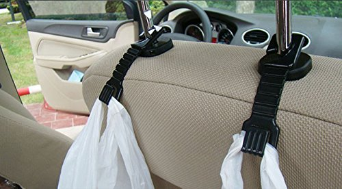 Fabal 2PCS Plastic Auto Car Truck Suv Shopping Bag Holder Seat Hook Hanger (Black) by Fabal (Image #4)