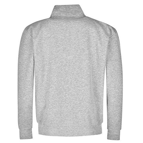 completa Slazenger Top larga cremallera manga Casual gris chaqueta de con hombre para algodón rqqntFUwO