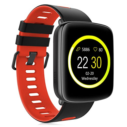 Smart Watch GV68 Waterproof for Android & iOS for Android & iOS Built-In Mic and Speaker, Bluetooth, Sleep & Heart Rate Monitor, Pedometer, Remote Camera Men, Women (Red)