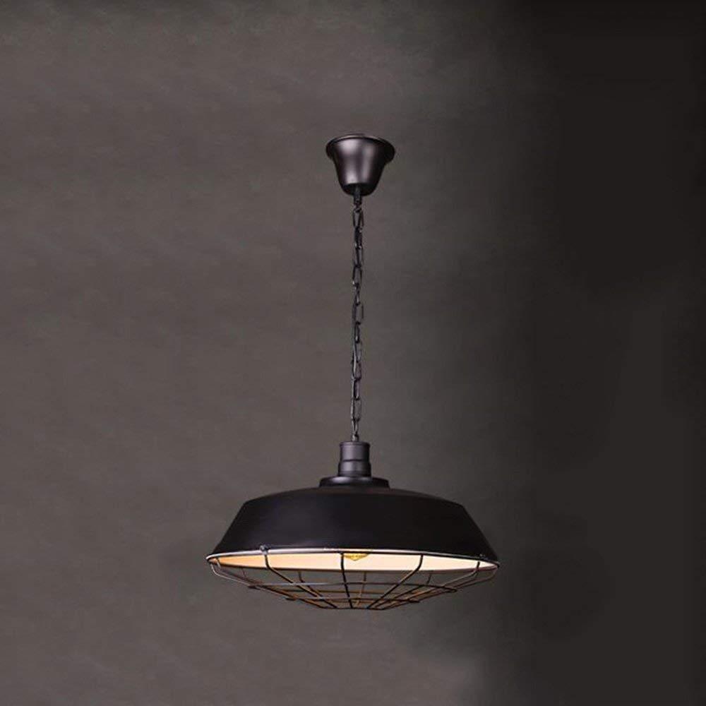 Amerikanischen Dorf Loft Bügeleisen Retro Industrial Network Gehäusen Kronleuchter Restaurant Bar Bekleidung Shop Kronleuchter Nicht Die Lichtquelle (Größe  36 Cm)