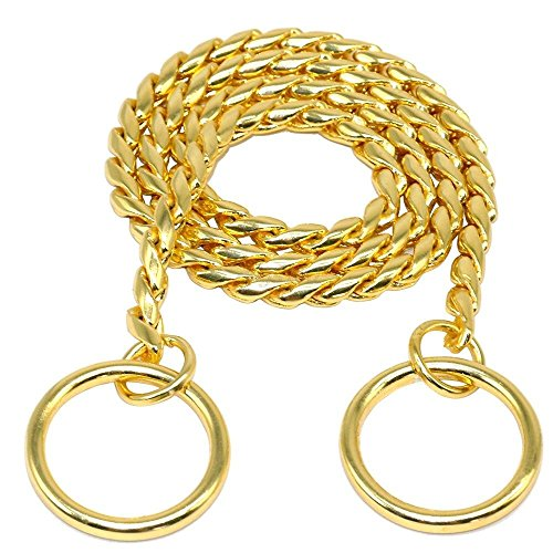 Picture of Moonpet P Snake Chain Dog Choke Collar - Heavy Duty for Small Medium Large Dog Breeds - Command Obedience Training Slip Collar (16