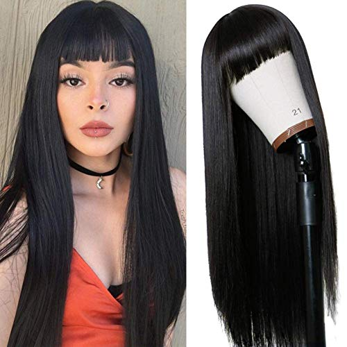 Mortilo Glueless Lace Deep Wave Wigs, Density Human Hair Wigs for Black Women Glueless Water Wave Wet and Wavy Human Hair Wigs 24 Inch (P)