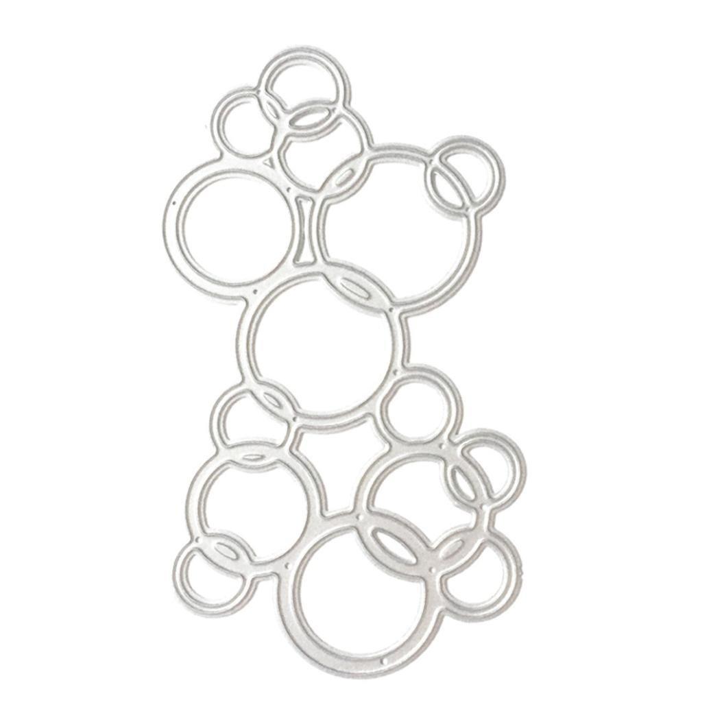 Plantillas de metal para manualidades, álbumes de recortes, diseño de flores de Winkey, acero al carbono, Circle, medium: Amazon.es: Hogar
