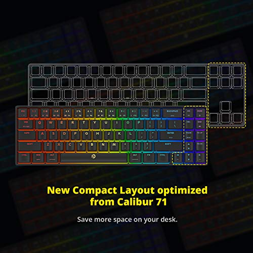 DREVO/Calibur/V2/Cherry/MX/Red/RGB/60/%/Wired/Mechanical/Gaming/Keyboard/Work/for/PC//Mac,/71-Key/Small/Compact/US/Layout/White
