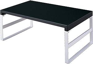 LIHIT LAB Desktop Stand, 9.8 x 15.4 x 6.3 inches, Black (A7331-24)