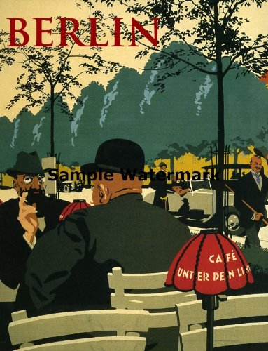 Berlin Fashion Capital City of Germany Europe Travel Tourism Image Size Vintage Poster Reproduction