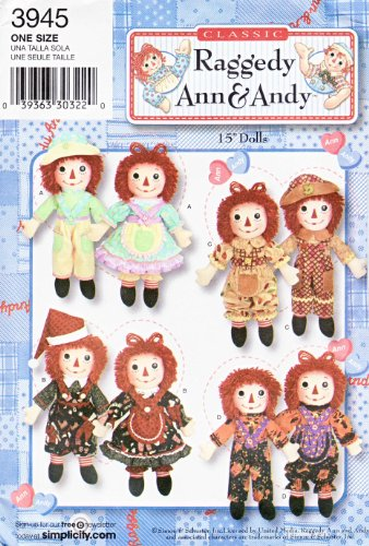 Simplicity Sewing Pattern 3945 Raggedy Ann & Andy 15