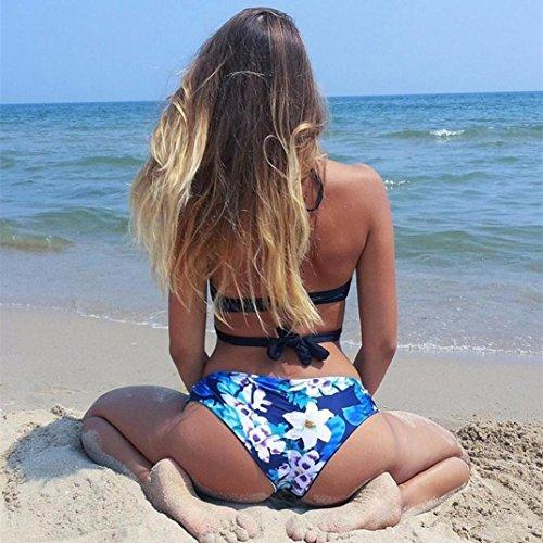 Webla Frauen Bikini Set Badebekleidung Push-Up gepolsterte BH Badeanzug Beachwear