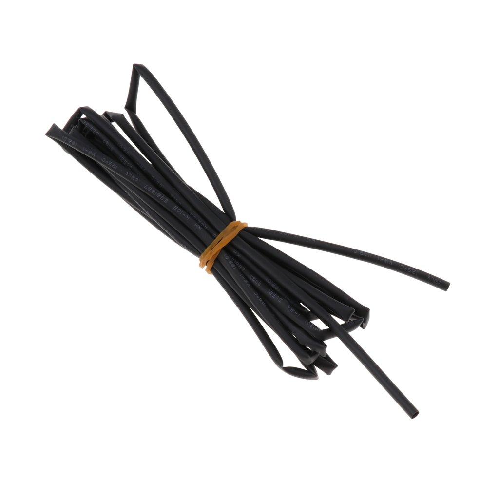 Sharplace Tube Gaine Thermor/étractable /Étanche 2:1 Housse de Cable Isolation /Électrique S/écurit/é de Cable Noir 5m 4mm