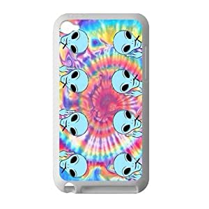 Canting_Good Tie Dye Alien Custom Case Cover Shell for IPod Touch 4 TPU (Laser Technology)