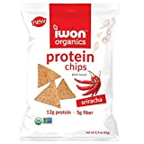 Cheap iwon organics Sriracha Flavor Snack Chips, High Protein and Organic, 8 Bags, 1.5 Ounce