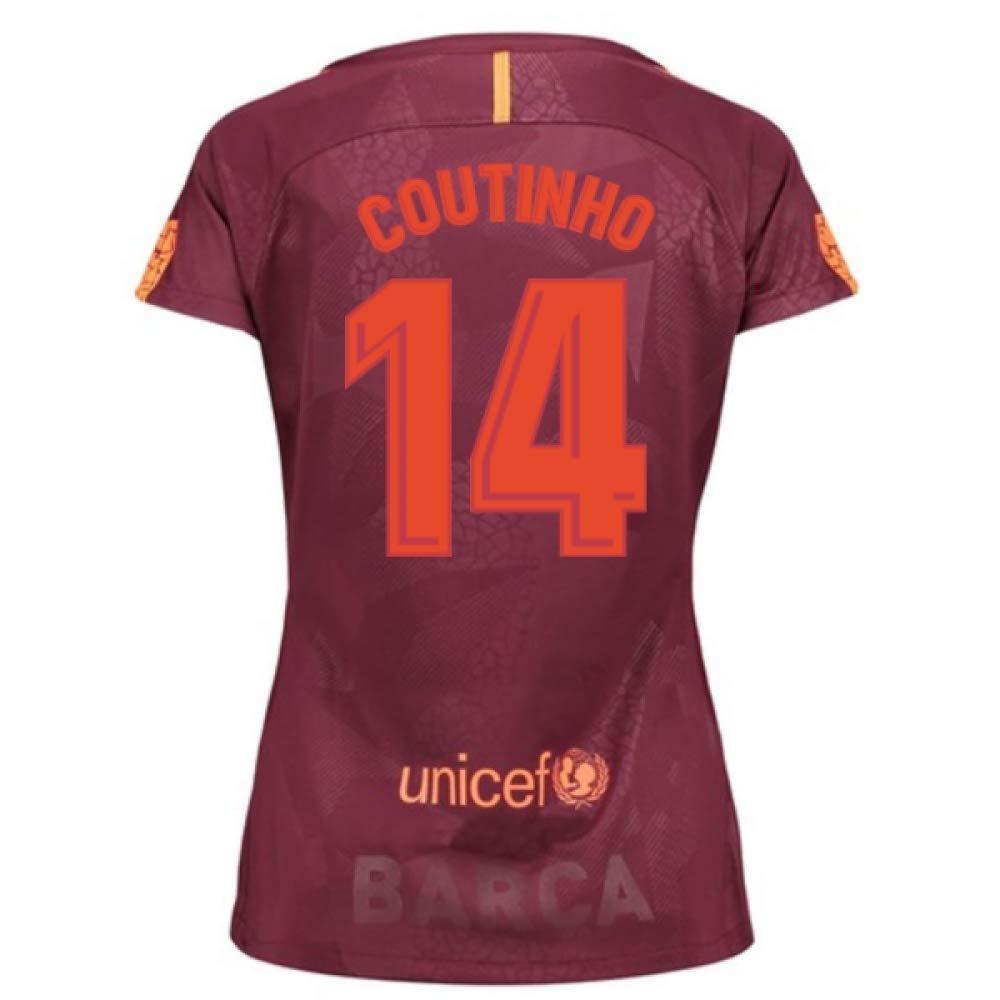 2017-18 Barcelona Third Damens Football Soccer T-Shirt Trikot (Philippe Coutinho 14)
