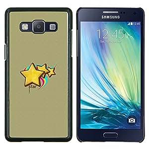KLONGSHOP // Cubierta de piel con cierre a presión Shell trasero duro de goma Protección Caso - Cara abstracta - Samsung Galaxy A5 A5000 //