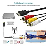 HDMI to RCA Cable, [Upgraded] HDMI to RCA Converter Adapter Best Buy Audio Extractor Jacks Cord