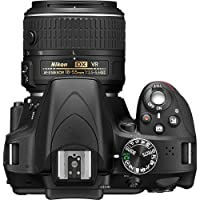 Nikon D3300 DX-format DSLR Kit w/ 18-55mm DX VR II & 55-200mm DX VR II Zoom Lenses and Case (Black) by Nikon
