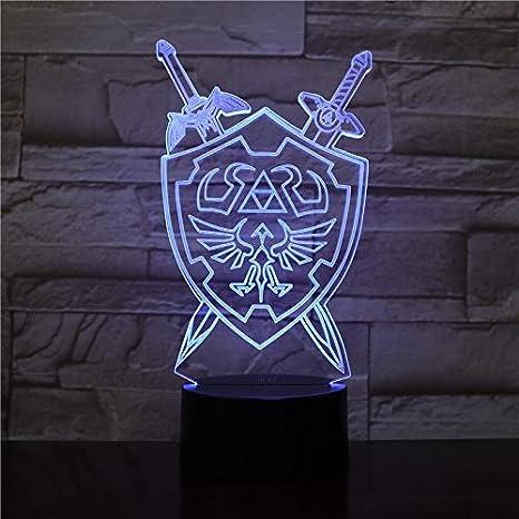 The Legend of Zelda Lámpara de mesa de luz nocturna en 3D Juego de ...