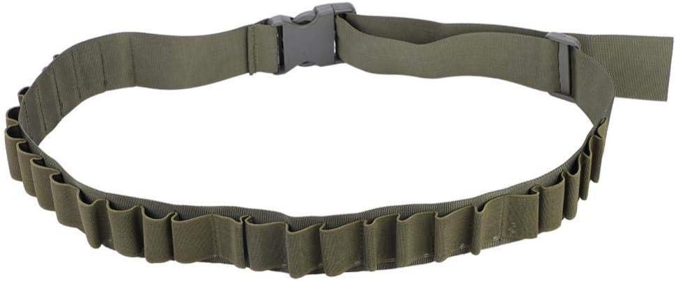 Demeras Cinturón de Bala Cartucho de Escopeta de Caza Cinturones Bandolera Cinturón Cartucho Portador Soporte de munición de Bala Accesorio de Disparo