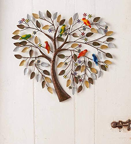 Wind Weather Handcrafted Heart Tree Metal Wall Art