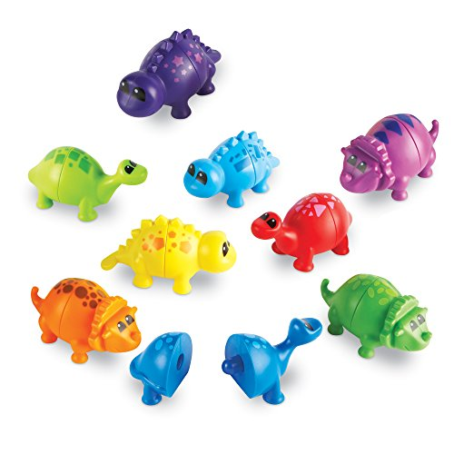 (Learning Resources Snap-n-Learn Matching Dinos sorting colors toy)