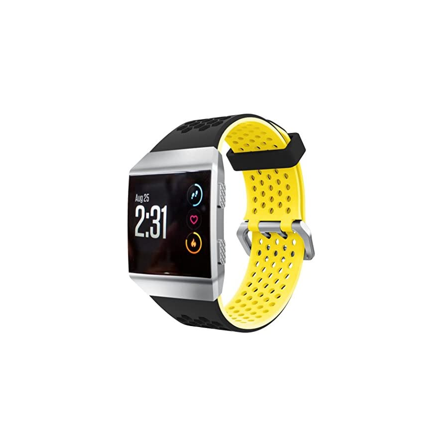 Sympath Soft Silicone Replacement Sport Band Strap For Fitbit Ionic Smart Fitness Watch