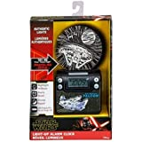 eKids Star Wars SW-349.FXv9M Light Up Alarm Clock with USB Charging