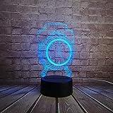 HIOJDWA Night Light Fashion Alarm Clock Style Toy Decorative 3D USB Lamp Multicolor