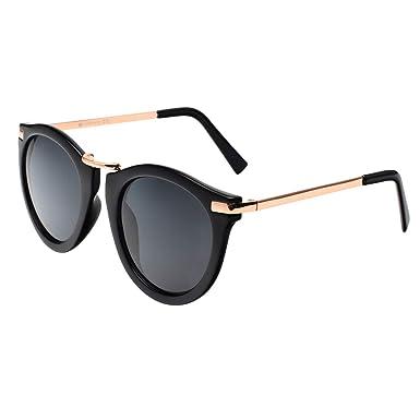6932b27451b Vintage Fashion Floral Print Round Lens Polarized Wayfarer Sunglasses For  Women P1511C Black