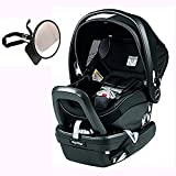 Peg Perego Primo Viaggio Nido Car Seat with Load Leg Base w Back Seat Mirror - Onyx