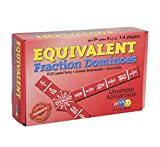 Learning Advantage 4519 Equivalent Fraction Dominoes Game, Grade: 4 to 9, 6.5' Height, 1.5' Width, 4' Length