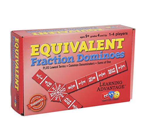 Learning Advantage 4519 Equivalent Fraction Dominoes Game, Grade: 4 to 9, 6.5