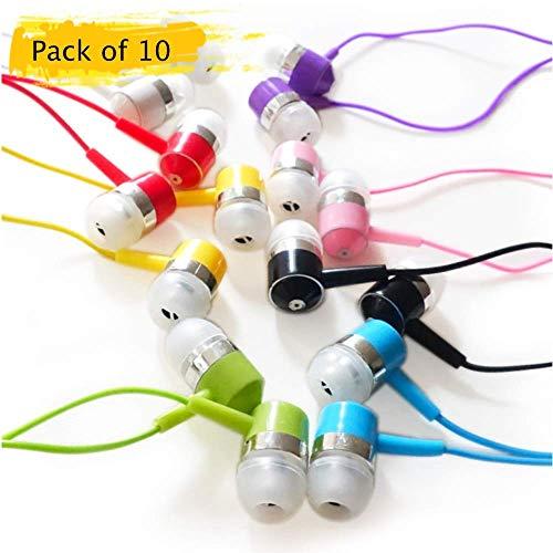 Life.Idea Bulk Earbuds Pack of 10 Wholesale Earphones Headphones in Bulk for Smart Phone, MP3, Computer (Ear Buds)