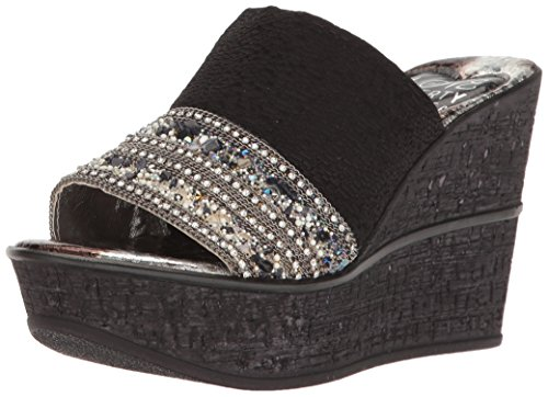 Sally Liberty Black amp; Women's Wedge Ll Sandal Love AvqZwxt