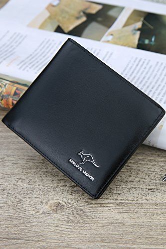 Generic Kangaroo genuine leather purse casual men's wallet wallet European and American youth minimalist leather wallet driver's license