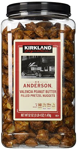 Filled Pretzel Peanut Butter Nuggets - Kirkland Signature H.K Anderson Valencia Peanut Butter Filled Pretzel Nuggets: 52 Oz - Cos9
