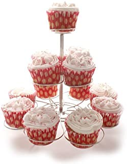 Loypack 3 Tier Silver Cupcake Stand by