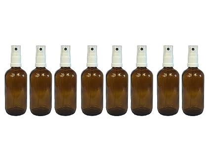 Farmacia de pulverizador de color marrón cristal vaporizador Efecto 8 piezas | cantidad de relleno 100