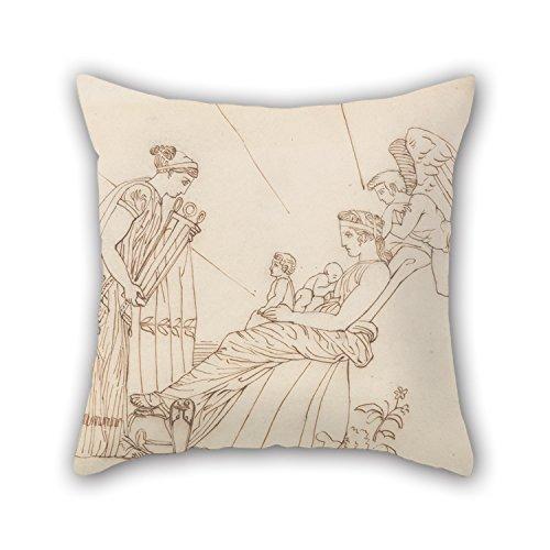 [Loveloveu Cushion Cases Of Oil Painting John Flaxman - To Phoebus At His Birth, From Aeschylus, Furies,for Kids Girls,couch,lover,wife,bar Seat,birthday 20 X 20 Inches / 50 By 50 Cm(twin] (Punk Rocker Girl Costume Ideas)