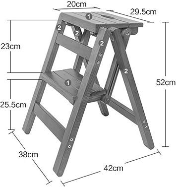 hmjv Escalera-estante-soporte Taburete, madera maciza Multifunción Escalera plegable Taburete Escalera Banco Escalera pequeña,# 3: Amazon.es: Bricolaje y herramientas