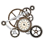 Vory Old Fashioned Wall Clock Metal Rustic Modern Industrial Steampunk Bedroom Decor 100x82cm 7