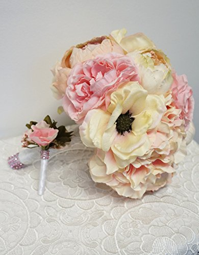 Sweet-Home-Deco-Silk-Peony-Hydrangea-Anemone-Flower-Wedding-Bridal-Bouquet-Bridesmaid-Bouquet-Boutonniere
