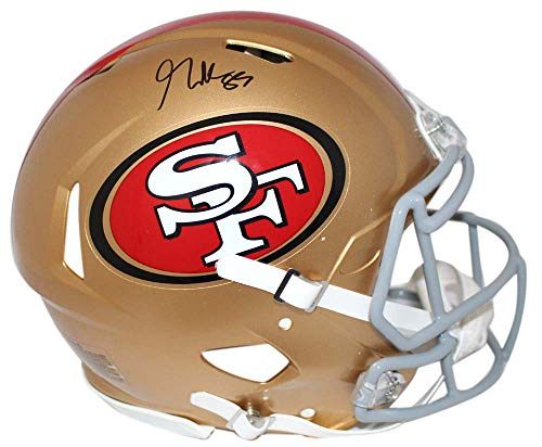 George Kittle Autographed San Francisco 49ers Authentic Speed Helmet BAS