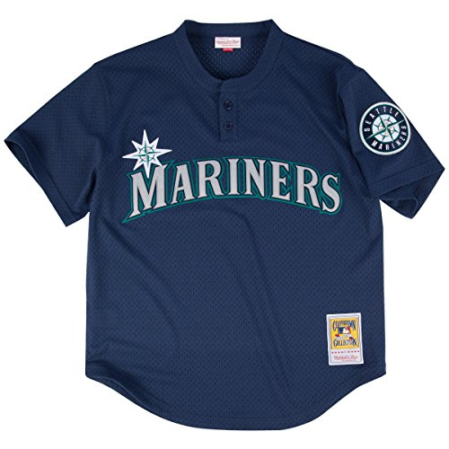 Mitchell & Ness Ken Griffey Jr. Blue Seattle Mariners Authentic Mesh Batting Practice Jersey 5XL (64)