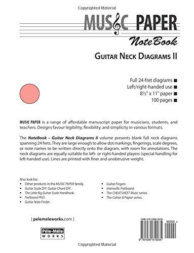 Music Paper Notebook Guitar Neck Diagrams Ii Ashkan Mashhour
