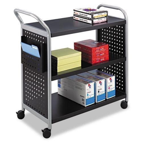 SAF5339BL - Safco Scoot 3 Shelf Utility Cart by Safco