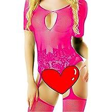 Daisland Women Sexy Lingerie Sleepwear Nightwear Fishnet Bodystocking Bodysuit