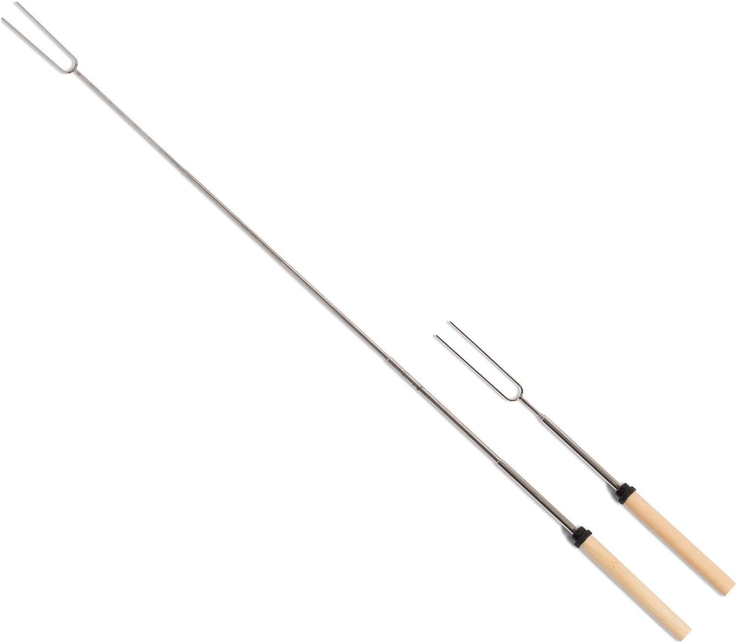 B01GZZ7NK8 Yakura 8 Piece Marshmallow Roasting Sticks, Telescoping Smore Skewers For Bbq Hot Dog Fork Patio Fire Pit Camping 61CjSAH9UOL