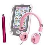 DURAGADGET Leapfrog LeapPad 3 / LeapPad 3x / LeapPad Ultra XDI - Pretty Pink Ultra-Stylish Kids Fashion Headphones with Padded Design, Button Remote & Microphone for Leapfrog LeapPad 3 / LeapPad 3x / LeapPad Ultra XDI Kids Tablet + BONUS Matching Stylus!