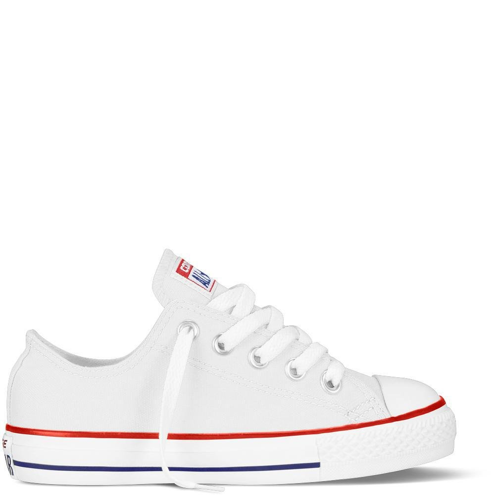 Converse Chuck Taylor All Star Canvas Low Top Sneaker, Optical White, 13.5 M US Little Kid by Converse (Image #7)