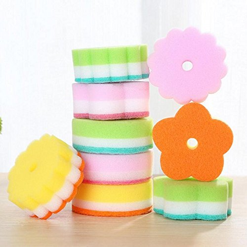 - HATCHMATIC 5PCS/LOT Hot Decontamination Sponge Washing Cloth Washing Towel Non Stick Oil Cleaner Sponge Kitchen items