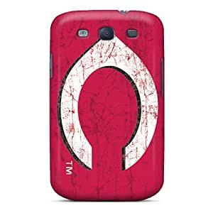 InesWeldon Samsung Galaxy S3 Shock Absorption Hard Phone Case Customized HD Cincinnati Reds Series [wNS12328UrGO]